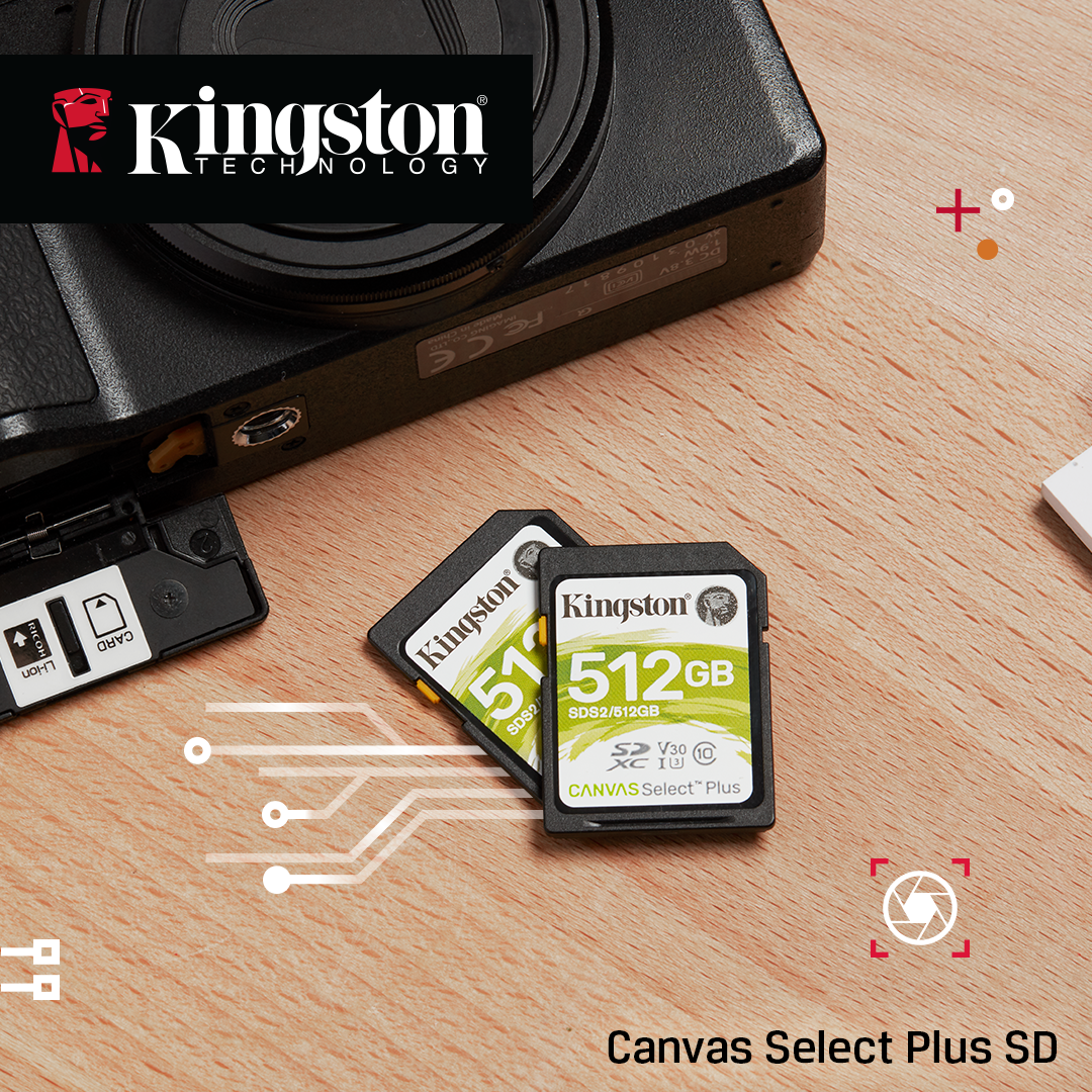 Kingston's Canvas Select™ Plus SD Memory Cards
