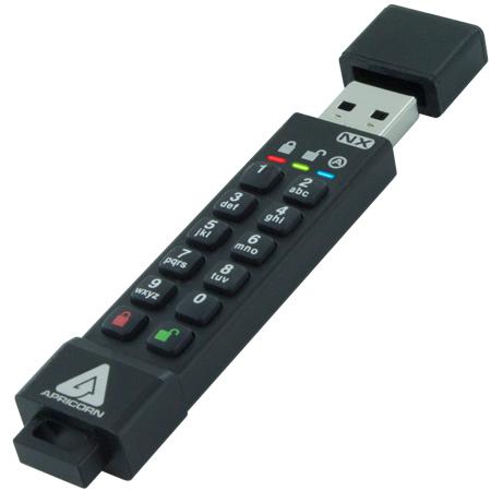 Apricorn ASK3-NX-64GB USB flash drive USB Type-A 35 Black