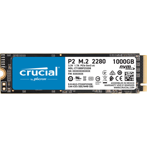 Crucial P2 14 1000 GB PCI Express 3.0 NVMe