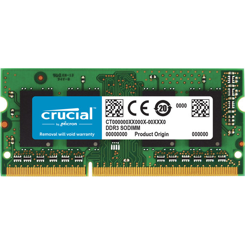 Crucial 8GB 21 SODIMM memory module 1 x 8 GB 21 1600 MHz