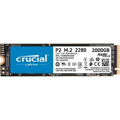 Crucial P2 14 2000 GB PCI Express 3.0 NVMe