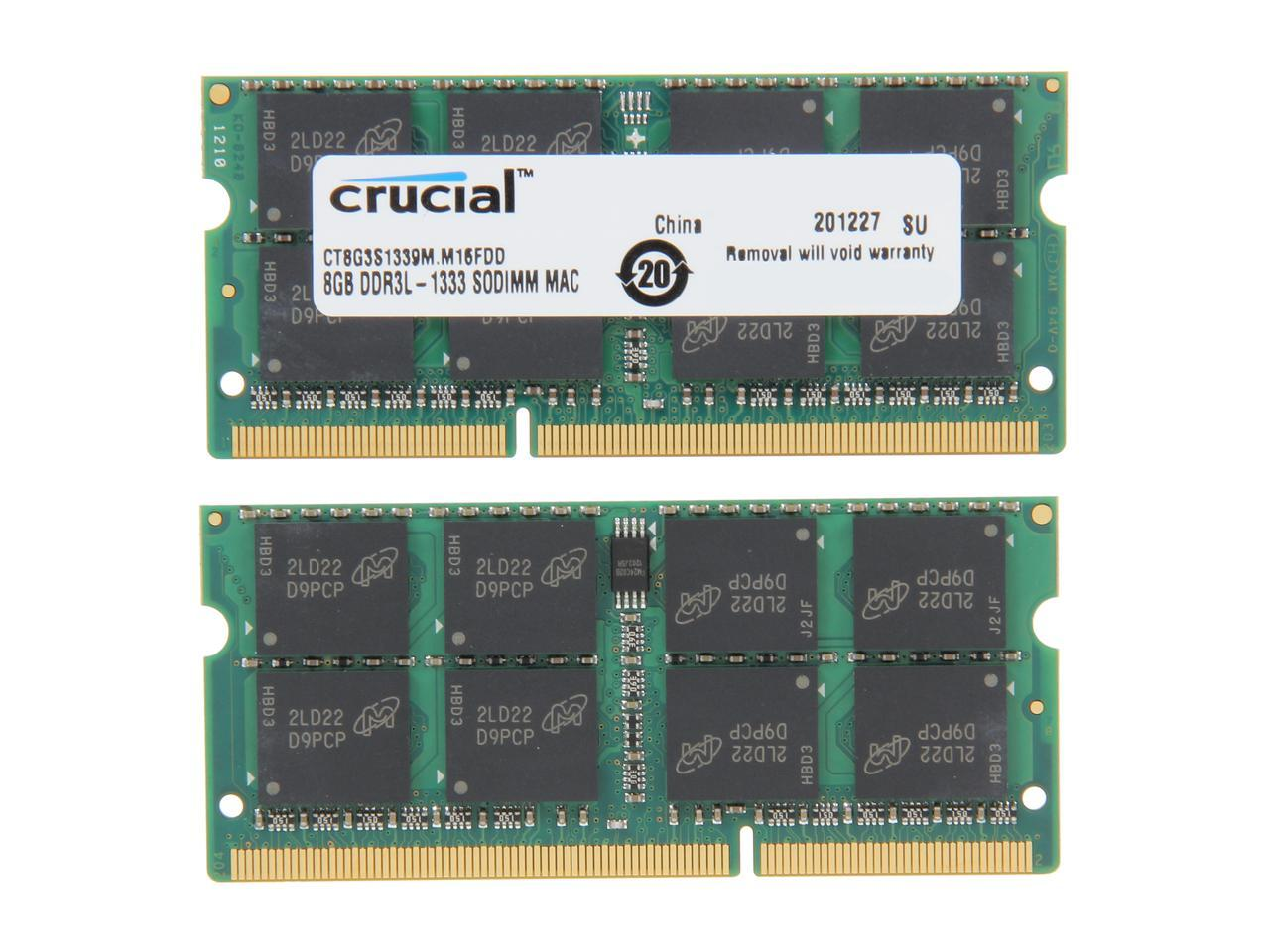 Crucial 16GB 21-1333 memory module 2 x 8 GB 1333 MHz