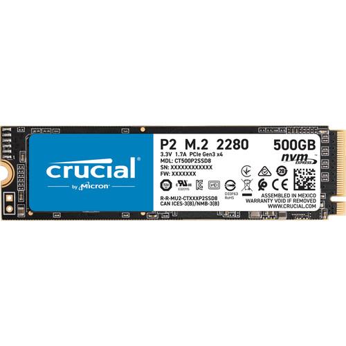 Crucial P2 14 500 GB PCI Express 3.0 NVMe
