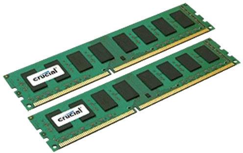 Crucial CT2K25664BD160B memory module 4 GB 2 x 2 GB 21 1600 MHz