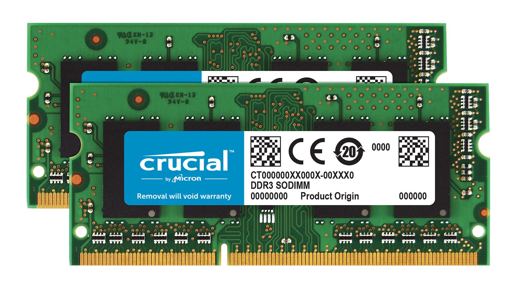 Crucial 8GB PC3-12800 Kit memory module 2 x 4 GB 21 1600 MHz