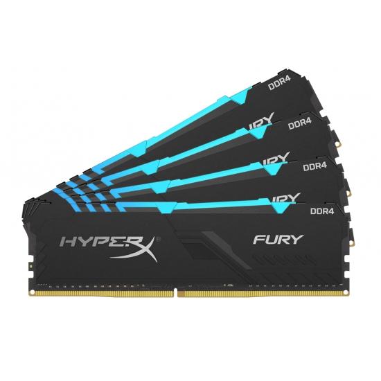 HyperX Fury RGB HX430C16FB3AK4/128 128GB (32GB x4) DDR4 3000Mhz Non ECC Memory RAM DIMM
