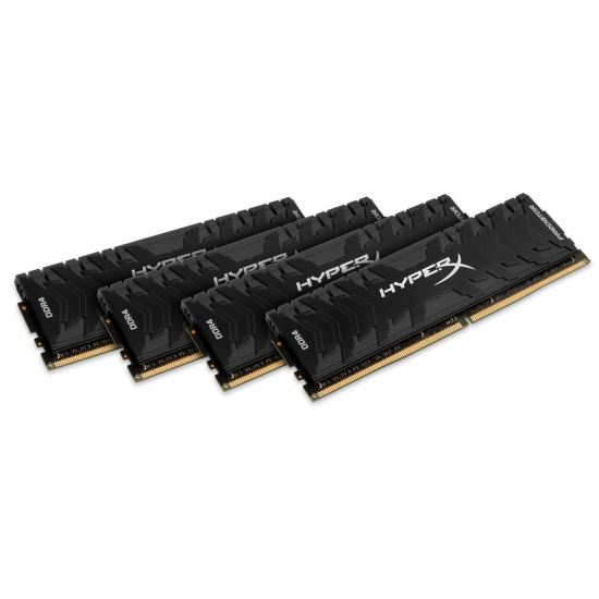HyperX Predator HX433C16PB3K4/64 Black 64GB (16GB x4) DDR4 3333Mhz Non ECC Memory RAM DIMM