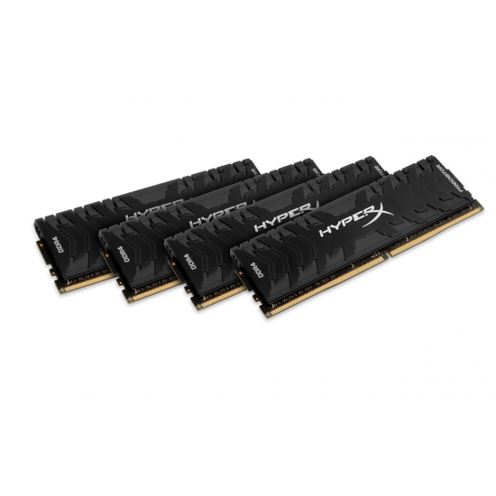 HyperX Predator HX430C15PB3K4/64 Black 64GB (16GB x4) DDR4 3000Mhz Non ECC Memory RAM DIMM
