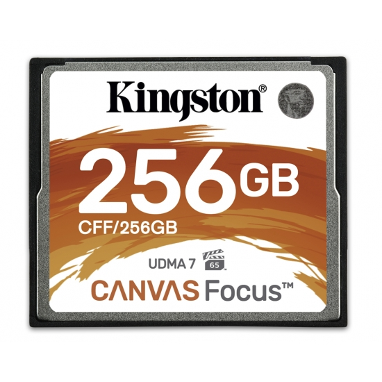 Kingston Canvas Focus 256GB Compact Flash (CF) Card 150MB/s R, 130MB/s W