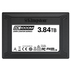 Kingston 3.84TB (3840GB) DC1000M SSD 2.5 Inch 7mm, U.2, NVMe, PCIe 3.0 (x4), 3100MB/s R, 2700MB/s W