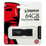 Kingston 64GB USB 3.0 DataTraveler Flash Drive, USB 3.0, 100MB/s