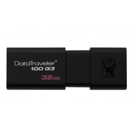 Kingston 32GB 3P USB 3.0 DataTraveler Flash Drive, USB 3.0, 100MB/s
