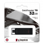 Kingston 32GB DataTraveler DT70 Type-C Flash Drive USB 3.2, Gen1, 80MB/s