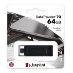 Kingston 64GB DataTraveler DT70 Type-C Flash Drive USB 3.2, Gen1, 80MB/s