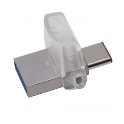 Kingston 128GB DataTraveler MicroDuo Flash Drive USB 3.1, Gen1, 100MB/s