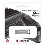 Kingston 64GB DataTraveler Kyson Type-A Flash Drive USB 3.2, Gen1, 200MB/s
