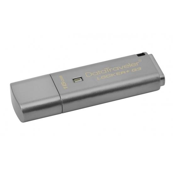 Kingston 16GB DataLocker+ G3 Encrypted Flash Drive USB 3.0, 135MB/s
