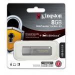 Kingston 8GB DataLocker+ G3 Encrypted Flash Drive USB 3.0, 80MB/s
