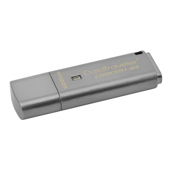 Kingston 128GB DataLocker+ G3 Encrypted Flash Drive USB 3.0, 135MB/s