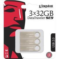 Kingston 32GB DataTraveler SE9 Flash Drive USB 2 0 3-Pack