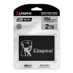 Kingston 2TB (2048GB) KC600 SSD 2.5 Inch 7mm, SATA 3.0 (6Gb/s), 3D TLC, 550MB/s R, 520MB/s W