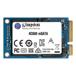 Kingston 1TB (1024GB) KC600 SSD mSATA, SATA 3.0 (6Gb/s), 3D TLC, 550MB/s R, 520MB/s W
