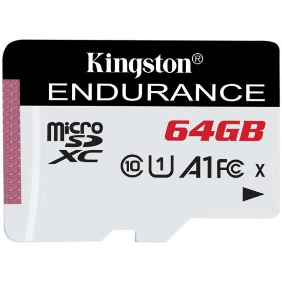 Kingston 64GB High Endurance Micro SD (SDXC) Card U1 A1, 95MB/s R, 30MB/s W