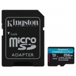 Kingston 256GB Canvas Go Plus Micro SD (SDXC) Card U3, V30, A2, 170MB/s R, 90MB/s W