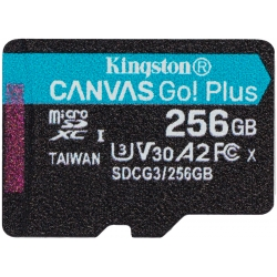 Kingston 256GB Canvas Go Plus Micro SD (SDXC) Card U3, V30, A2, 170MB/s R, 90MB/s W