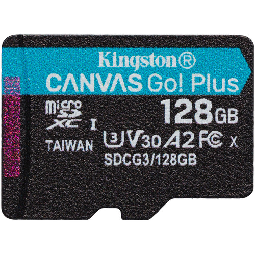 Kingston 128GB Canvas Go! Plus UHS-I Go Plus Micro SD (SDXC) Memory Card