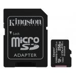 Kingston 256GB Canvas Select Plus Micro SD (SDXC) Card U3, V30, A1, 100MB/s R, 85MB/s W