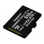 Kingston 512GB Canvas Select Plus Micro SD (SDXC) Card U3, V30, A1, 100MB/s R, 85MB/s W