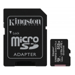 Kingston 512GB Canvas Select Plus Micro SD (SDXC) Card U3, V30, A1, 100MB/s R, 85MB/s W