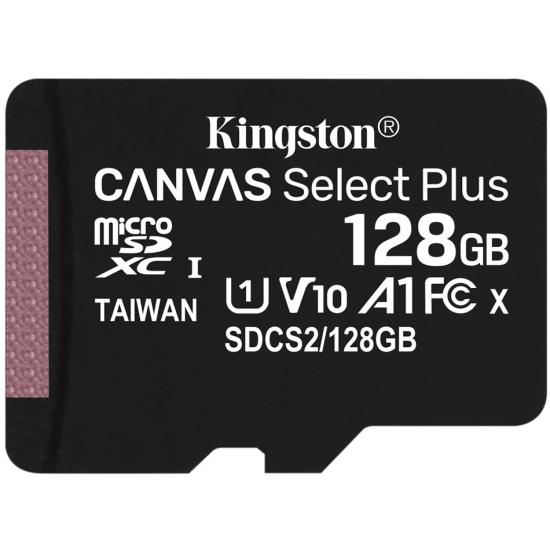 Kingston 128GB Canvas Select Plus UHS-I Micro SD (SDXC) Memory Card