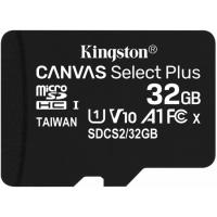Kingston 32GB 3P1A Canvas Select Plus Micro SD (SDHC) Card U1, V10, A1, 100MB/s R, 10MB/s W