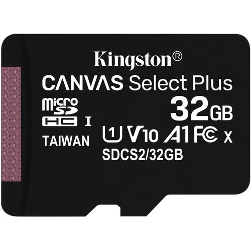 Kingston 32GB Canvas Select Plus UHS-I Micro SD (SDXC) Memory Card