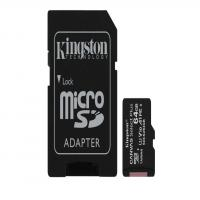 Kingston 64GB 3P1A Canvas Select Plus Micro SD (SDXC) Card U1, V10, A1, 100MB/s R, 10MB/s W
