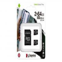 Kingston 64GB 2P1A Canvas Select Plus Micro SD (SDXC) Card U1, V10, A1, 100MB/s R, 10MB/s W
