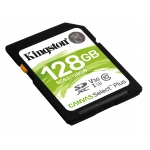 Kingston 128GB Canvas Select Plus SD (SDXC) Card U3, V30, 100MB/s R, 85MB/s W