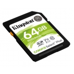 Kingston 64GB Canvas Select Plus SD (SDXC) Card U1, V10, 100MB/s R, 10MB/s W