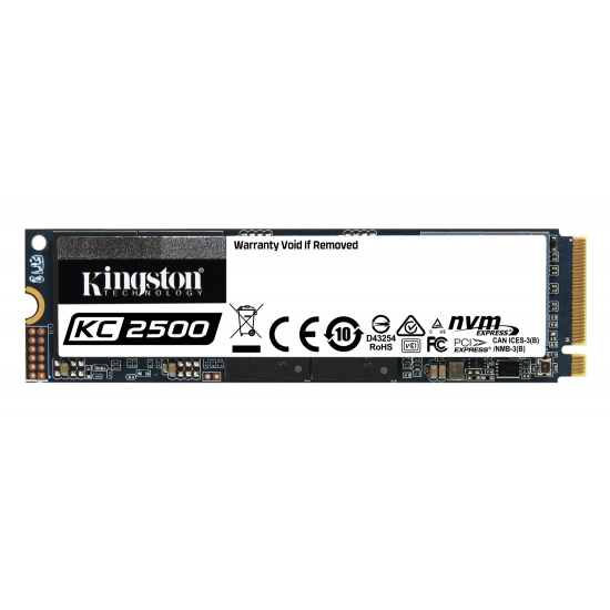 Kingston 1.0TB (1000GB) KC2500 SSD M.2 (2280), TCG Opal, NVMe, PCIe 3.0 (x4), 3500MB/s R, 2900MB/s W
