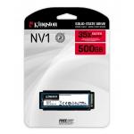 Kingston 500GB NV1 SSD M.2 (2280), NVMe, PCIe 3.0 (x4), 2100MB/s R, 1700MB/s W