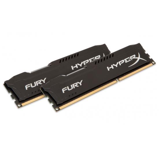 HyperX Fury HX313C9FBK2/8 Black 8GB (4GB x2) DDR3 1333Mhz Non ECC Memory RAM DIMM