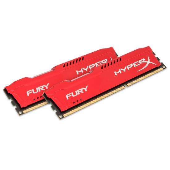 HyperX Fury HX316C10FRK2/16 Red 16GB (8GB x2) DDR3 1600Mhz Non ECC Memory RAM DIMM