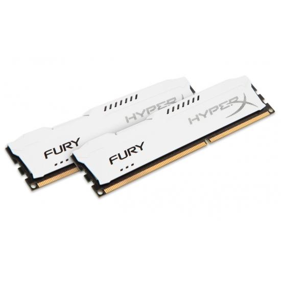 HyperX Fury HX316C10FWK2/16 White 16GB (8GB x2) DDR3 1600Mhz Non ECC Memory RAM DIMM