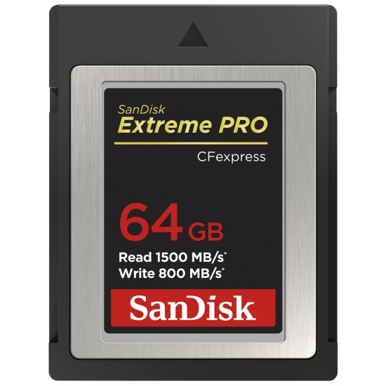 SanDisk 64GB Extreme Pro CFexpress Card, Type B, 1500MB/s R, 800MB/s W