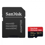 SanDisk 512GB Extreme Pro Micro SD (SDXC) Card U3, V30, A2, 170MB/s R, 90MB/s W