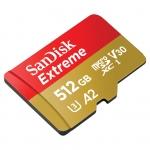 SanDisk 512GB Extreme Micro SD (SDXC) Card U3, V30, A2, 160MB/s R, 90MB/s W