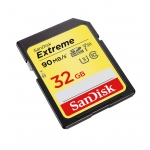 SanDisk 32GB Extreme SD (SDHC) Card U3, V30, 90MB/s R, 40MB/s W
