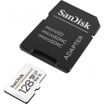 SanDisk 128GB High Endurance Micro SD (SDXC) Card U3, V30, 100MB/s R, 40MB/s W